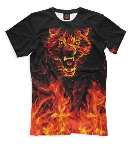 Купить Мужская футболка Волк VLF-536921-fut-2