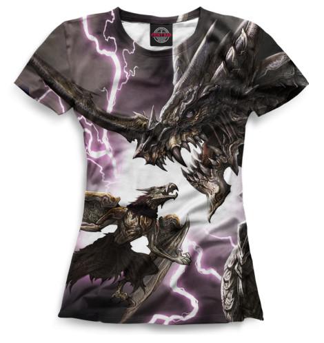 Женская футболка Драконы
