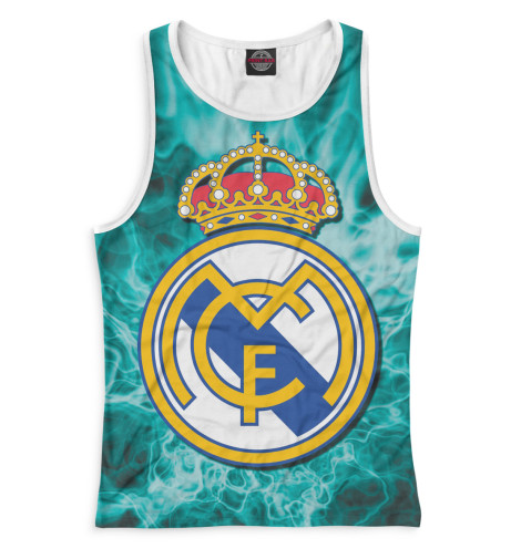 Женская майка-борцовка Герб Real Madrid