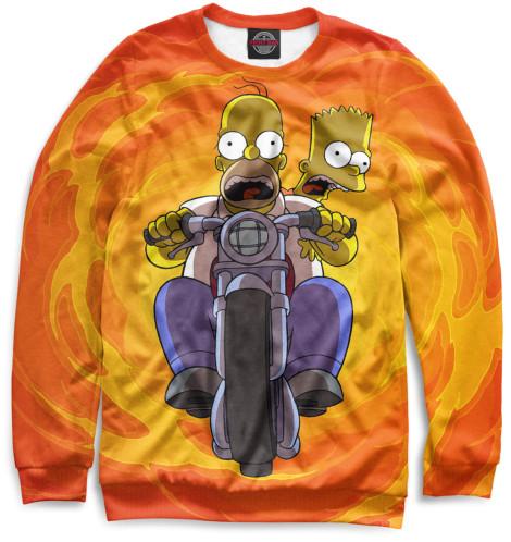 Мужской свитшот Гомер и Барт