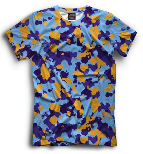 Мужская футболка Цветной камуфляж