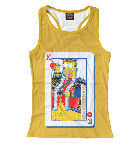 Майка борцовка Print Bar King Homer худи print bar homer logan