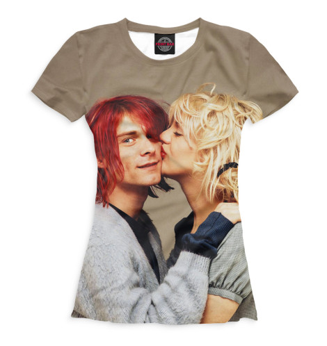 Женская футболка Курт и Кортни