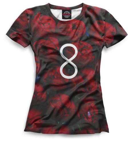 Женская футболка Розы