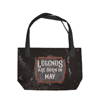 Пляжная сумка Legends Are Born In May