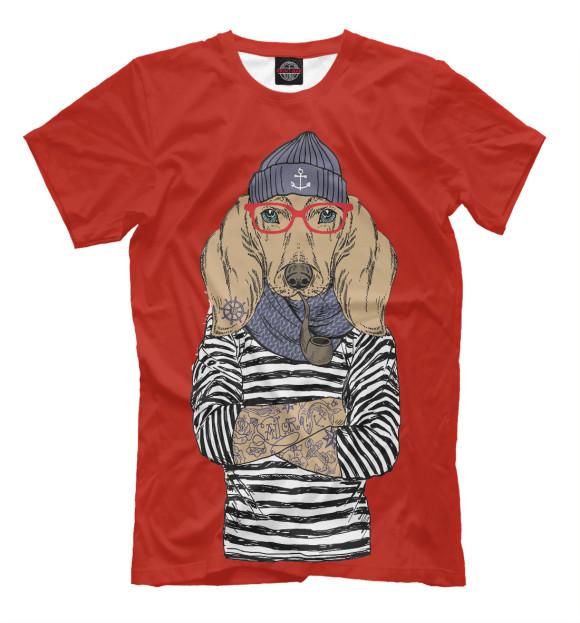 Купить Мужская футболка Модная такса DOG-149012-fut-2