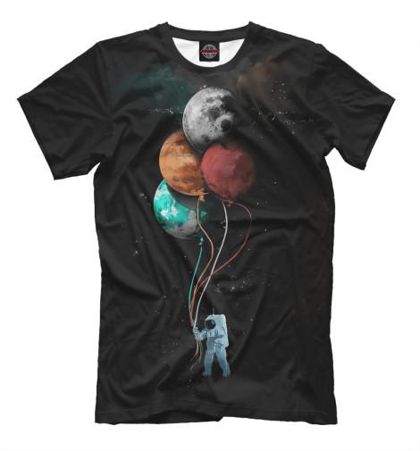 Футболка Print Bar Гуляющий Астронавт футболка print bar астронавт в огне