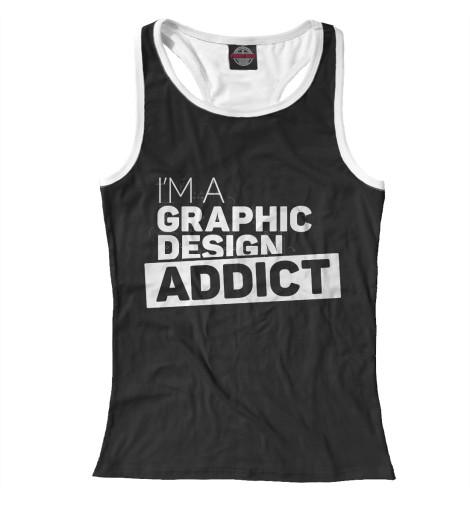 Майка борцовка Print Bar Graphic design addict graphic print fit