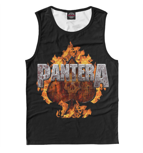 Майка Print Bar Pantera Spades of Fire худи print bar pantera cowboys from hell