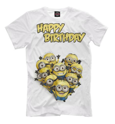 Футболка Print Bar Happy Birthday гирлянда happy birthday 1 6 метра