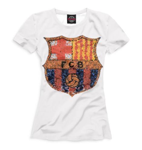 Женская футболка FCB мозаика