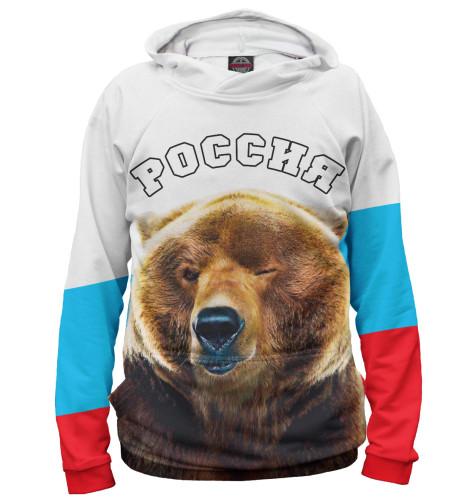 Женское худи Медведь подмигивает
