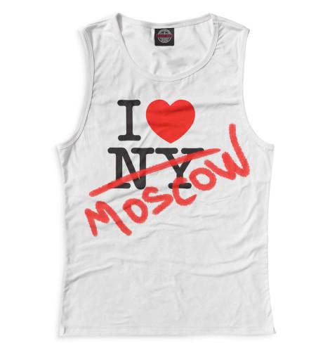 Женская майка I Love Moscow