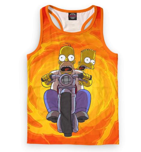 Мужская майка-борцовка Гомер и Барт