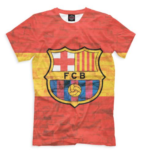 Мужская футболка FCB стена