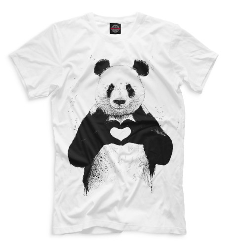 Мужская футболка Панда