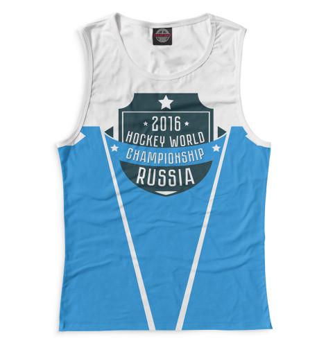 Женская майка Россия 2016 Print Bar HOK-672201-may-1