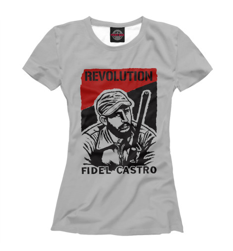 Футболка Print Bar Fidel Castro short row knits
