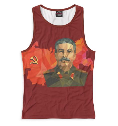 Женская майка-борцовка Сталин