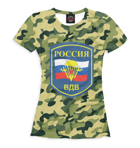 Женская футболка Россия ВДВ