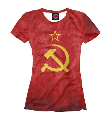 Футболка Print Bar Флаг СССР флаг пограничных войск россии великий новгород