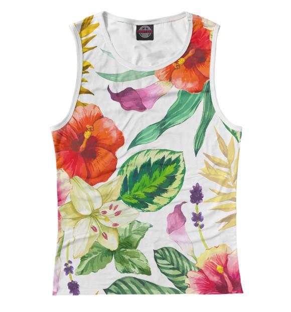Купить Женская майка ЦВЕТЫ цветы CVE-270295-may-1