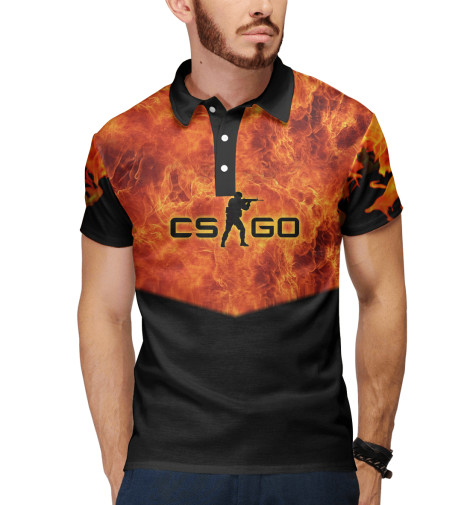 Поло Print Bar CS GO: Fire худи print bar cs go asiimov black