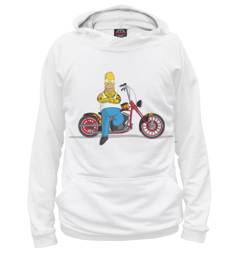 Худи Print Bar Homer and his Motorbike