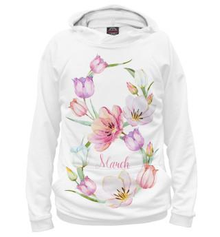Худи Цветы к 8 марта