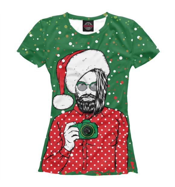 Купить Женская футболка Санта Хипстер NOV-882825-fut-1