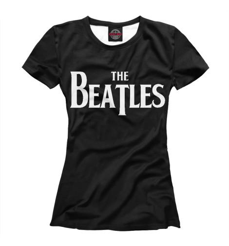 Фото - Женская футболка The Beatles от Print Bar белого цвета