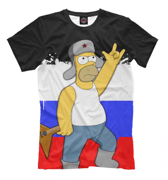 Купить Мужская футболка Russian Homer SIM-211729-fut-2