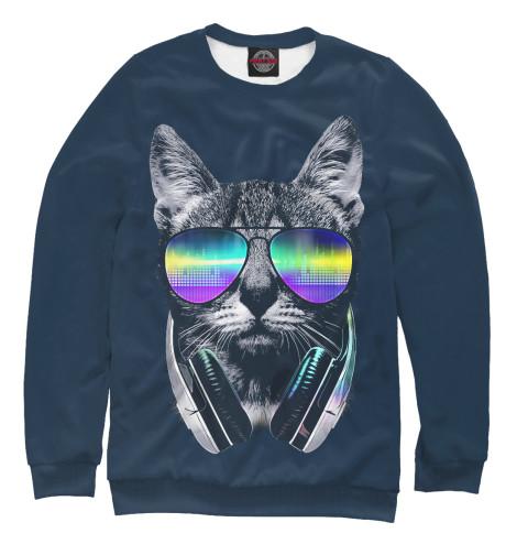 Свитшот Print Bar Кот с наушниками очки со встроиным монитором и наушниками купить