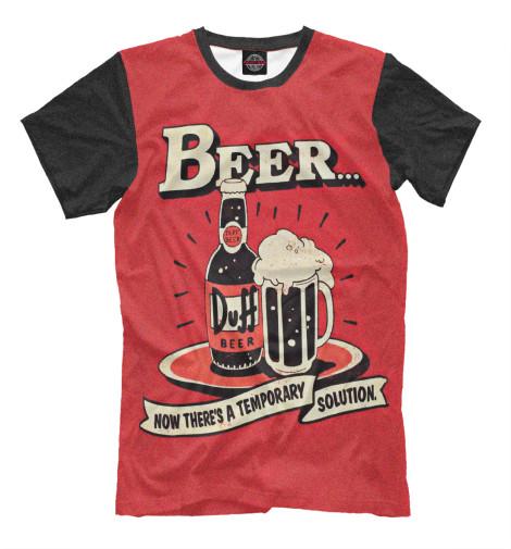 Футболка Print Bar Duff Beer поло print bar duff beer