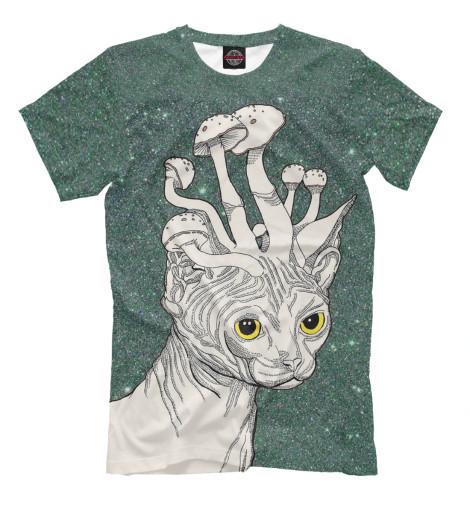 Купить Мужская футболка Кот PSY-878957-fut-2