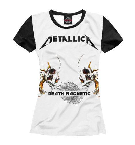 Футболка Print Bar Metallica Death Magnetic Skulls майка борцовка print bar metallica skulls