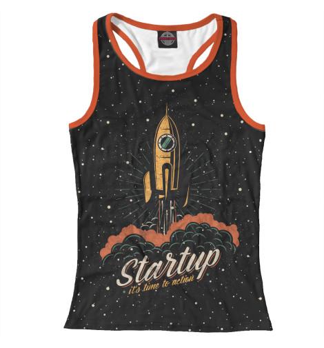 Майка борцовка Print Bar Startup Space the $100 startup