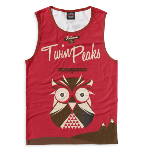 Майка Print Bar Twin Peaks майка борцовка print bar damn good twin peaks