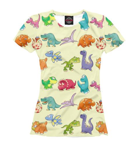 Футболка Print Bar Динозаврики динозаврики для самых маленьких
