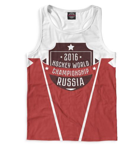 Мужская майка-борцовка Россия 2016 Print Bar HOK-908477-mayb-2