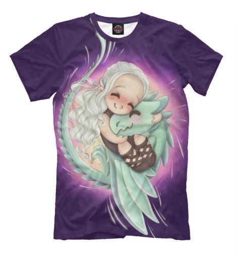 Мужская футболка Маленькая Дейенерис Таргариен с дракончиком