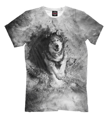 Футболка Print Bar Бегущий волк футболка print bar волк тотем