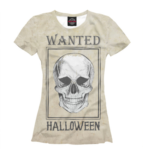 Футболка Print Bar Wanted Helloween пудра maybelline new york affinitone powder цвет 03 светло бежевый variant hex name fae8da вес 50 00