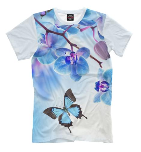 цена  Футболка Print Bar Цветы и бабочка  онлайн в 2017 году