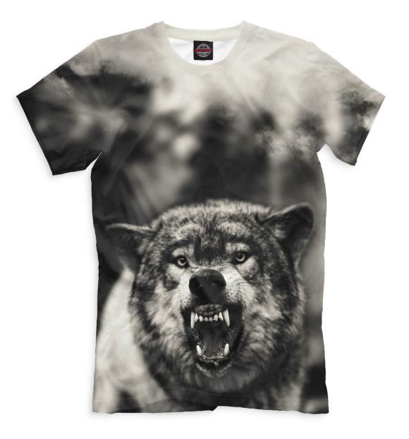 Купить Мужская футболка Волк VLF-110622-fut-2