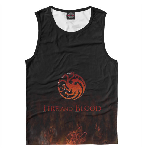 Майка Print Bar Fire & Blood ключ forsage 5071tl