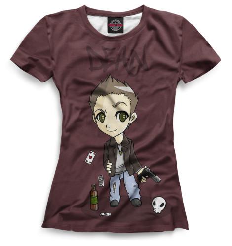 Женская футболка Дин Винчестер