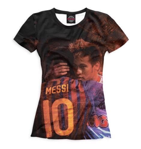 Женская футболка Месси и Неймар