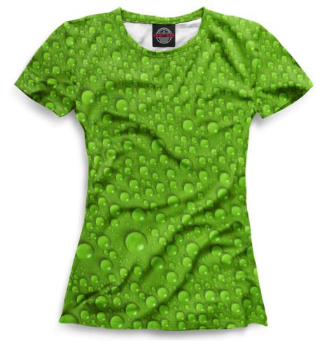 Женская футболка Капли