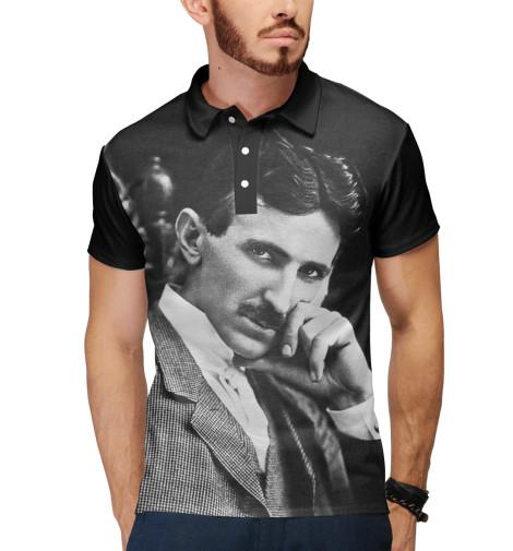 Поло Print Bar Никола Тесла никола тесла – повелитель молний научное расследование удивительных фактов